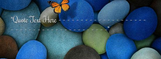 Colorful Rocks Facebook Cover Photo With Name