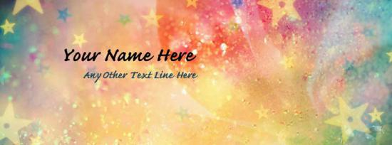 Colorful Stars Facebook Cover Photo With Name