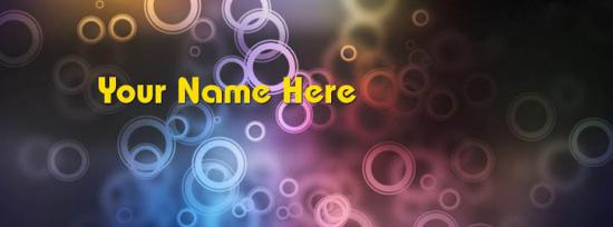 Colorful Rings Facebook Cover Photo With Name