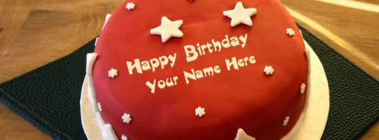 Cool Birthday Cake Facebook Cover Photo With Name