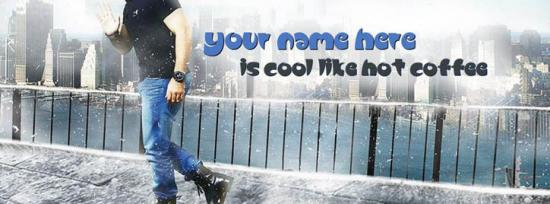 Cool Like Hot Coffee Facebook Cover Photo With Name