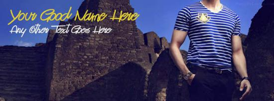 Cool Men Fashion Facebook Cover Photo With Name