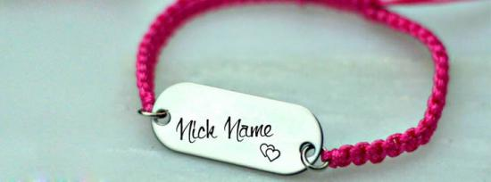 Cool Personalized Bracelet Facebook Cover Photo With Name