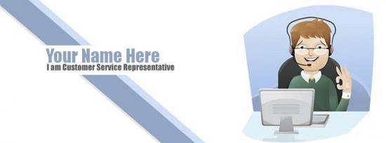 Customer Service Representative Facebook Cover Photo With Name