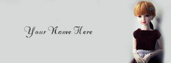 Cute Doll Name Cover Facebook Cover Photo With Name