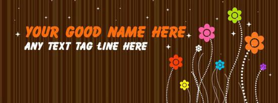 Cute Little Flowers Facebook Cover Photo With Name