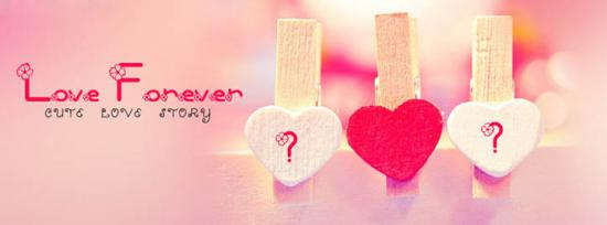 Cute Love Story Facebook Cover Photo With Name
