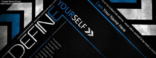 Define Yourself Facebook Cover Photo With Name