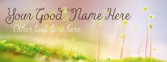 Early Spring Facebook Cover Photo With Name