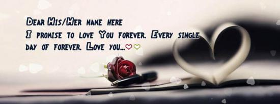 Every single day of forever Facebook Cover Photo With Name