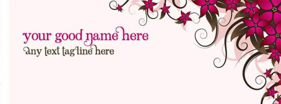 Flower Back Facebook Cover Photo With Name