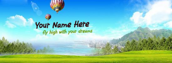 Fly high with your dreams Facebook Cover Photo With Name