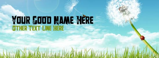 Free Summer Facebook Cover Photo With Name