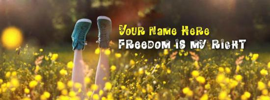 Freedom is my right Facebook Cover Photo With Name
