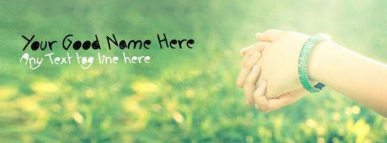 Girl Beautiful Hands Facebook Cover Photo With Name
