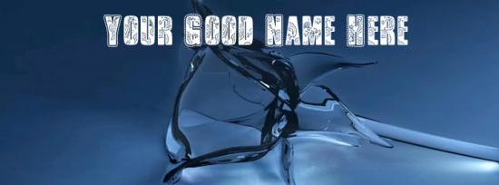 Glass Roze Facebook Cover Photo With Name