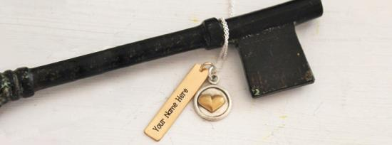 Gold Bar Necklace Facebook Cover Photo With Name