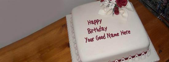 Happy Birthday Cake Facebook Cover Photo With Name