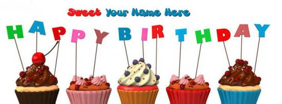Happy Birthday Sweet Me Facebook Cover Photo With Name