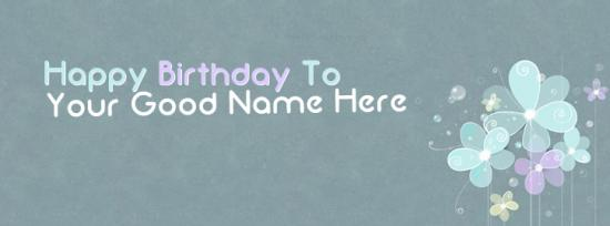 Happy Birthday to Me Facebook Cover Photo With Name