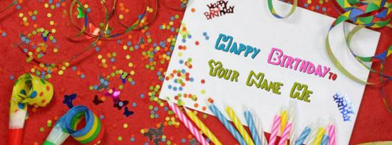 Happy Birthday Facebook Cover Photo With Name