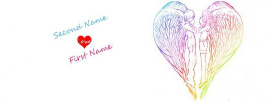 Heart Angels Facebook Cover Photo With Name