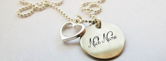 Nick Heart Necklace Facebook Cover Photo With Name