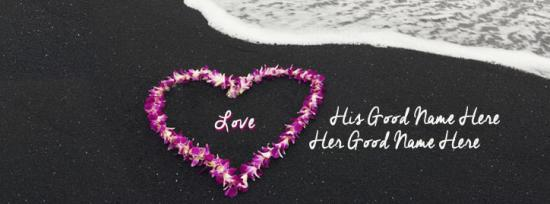 Heart of Flowers Facebook Cover Photo With Name