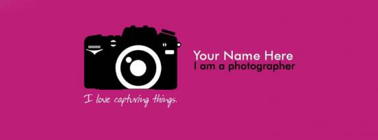 I am a Photographer Facebook Cover Photo With Name
