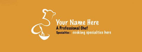 I am a Professional Chef Facebook Cover Photo With Name