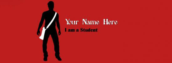 I am a Student - Boy Facebook Cover Photo With Name