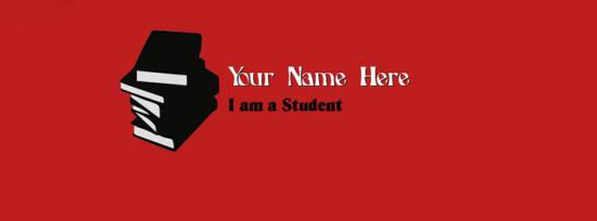 I am a Student Facebook Cover Photo With Name
