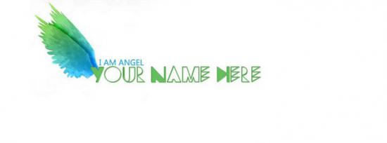 I AM ANGEL Facebook Cover Photo With Name