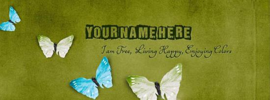 I Am Free Living Happy Enjoying Colors Facebook Cover Photo With Name