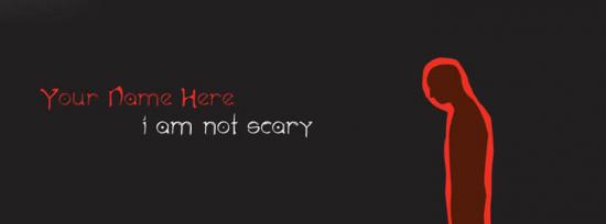I am not scary Facebook Cover Photo With Name