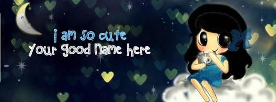 I am so cute Facebook Cover Photo With Name