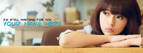 I am still waiting for you Facebook Cover Photo With Name
