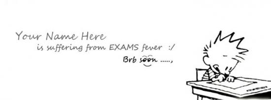 I am suffering from EXAMS fever Facebook Cover Photo With Name