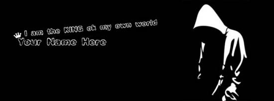I am the KING of my own world Facebook Cover Photo With Name