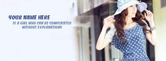 I can be Complicated Facebook Cover Photo With Name