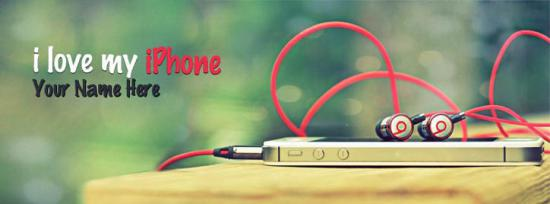 I love my iPhone Facebook Cover Photo With Name