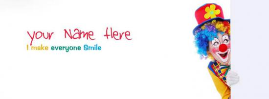 I make everyone Smile Facebook Cover Photo With Name