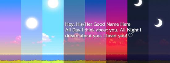 I think about you Facebook Cover Photo With Name