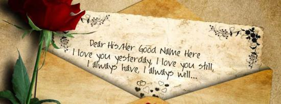 I will love you always Facebook Cover Photo With Name