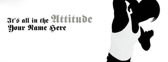 Its all in Attitude Facebook Cover Photo With Name