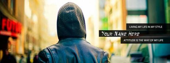 Living my life in my style Facebook Cover Photo With Name
