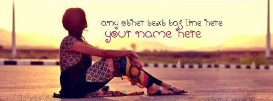 Lonely Girl and Beautiful View Facebook Cover Photo With Name