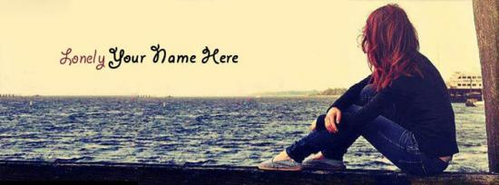 Lonely Girl Facebook Cover Photo With Name