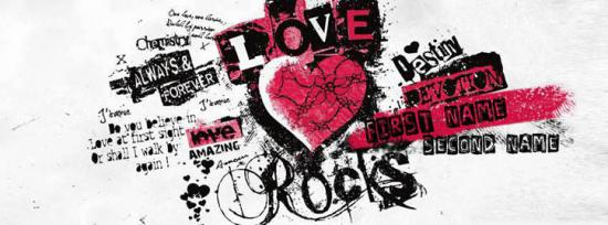 LOVE Rocks Facebook Cover Photo With Name