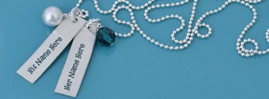 Lovely Couple Necklace Facebook Cover Photo With Name
